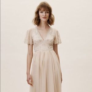BHLDN Fresna Dress in Oyster